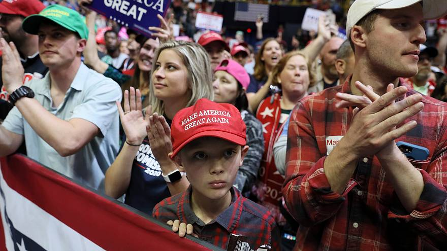 Supporters attend U.S. President Donald Trump's rally in Chattanooga