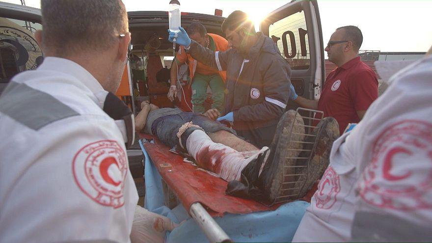 En Gaza el personal sanitario, no da abasto, para hacer frente a un número de heridos creciente