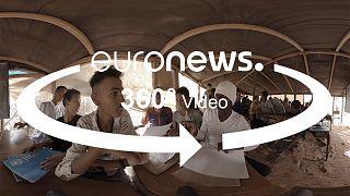 Vidéo 360° : la scolarisation des enfants réfugiés maliens en Mauritanie