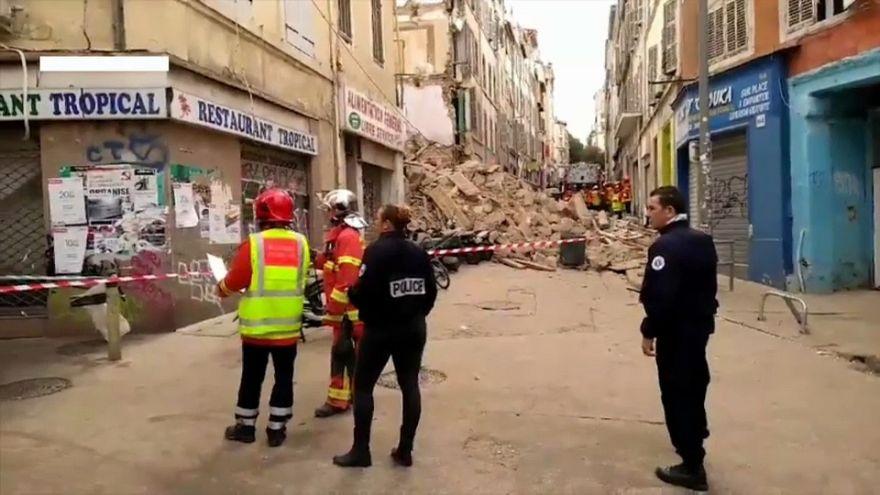 Emeletes ház dőlt össze Marseille-ben