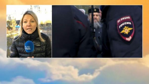 Russian Nationalist Protests on Unity Day