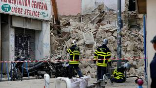 Two buildings collapse in Marseille leaving two people hurt