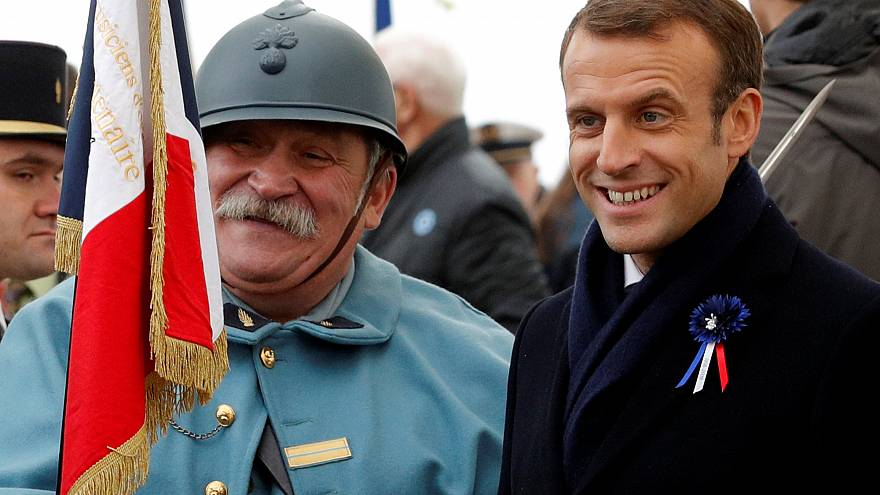 Macron besucht Schlachtfelder des Ersten Weltkrieges
