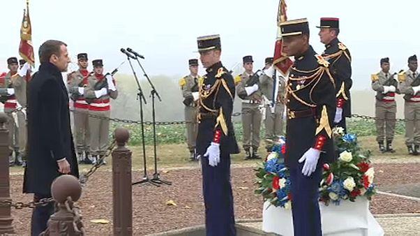 """Macron """"en marche"""": le tappe di commemorazione della Grande Guerra"""