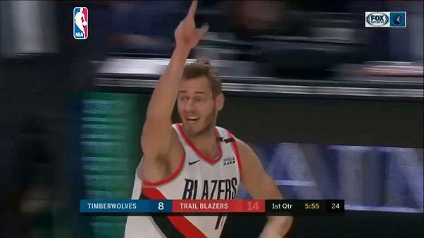 NBA: Portland stende anche Minnesota