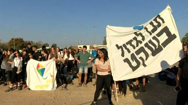 """""""Lasciateci crescere in pace"""", la marcia degli studenti israeliani"""