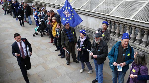 Cadena humana por los derechos de residencia tras el Brexit