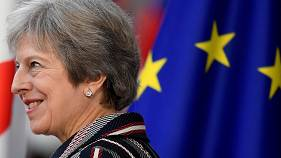 British Prime Minister Theresa May in Brussels on October 19, 2018.
