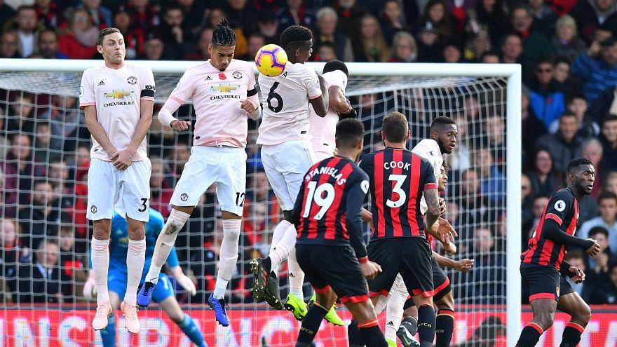 Nemanja Matic poppy-less for Manchester United versus Bournemouth.