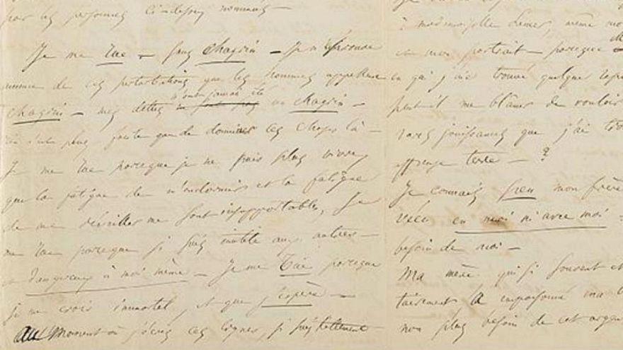 Vendida por miles de euros la carta del suicidio frustrado de Baudelaire