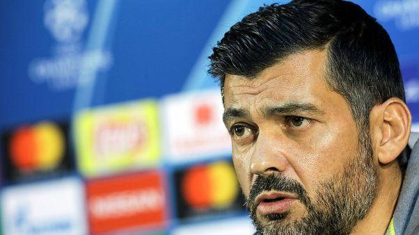 Sérgio Conceição na conferência de imprensa de antevisão com o Lokomotiv