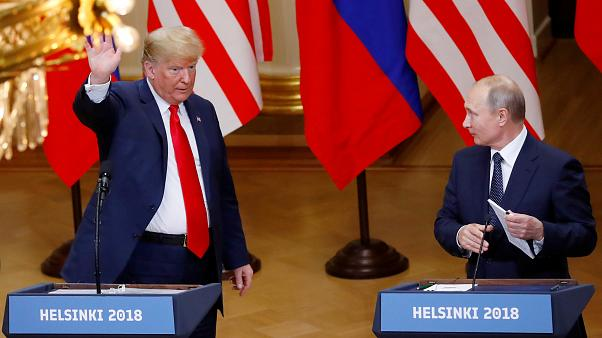 Donald Trump e Vladimir Putin na Finlândia em julho deste ano