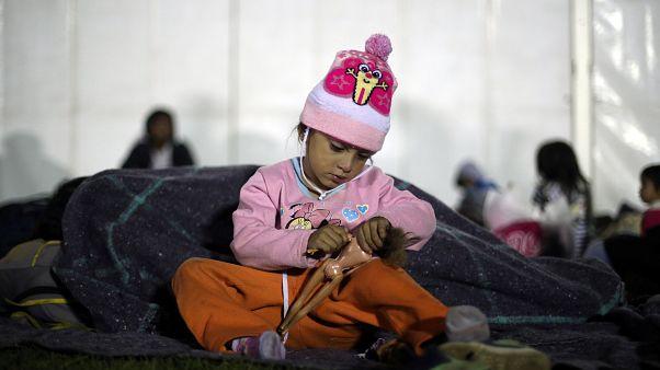 La primera caravana de migrantes llega a Ciudad de México