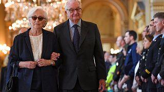 ملك بلجيكا السابق ألبرت الثاني والملكة باولا