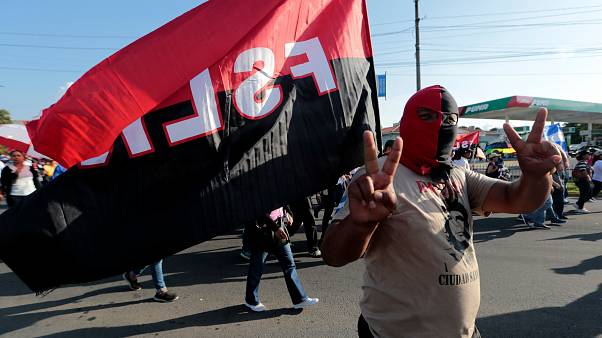 Un militante sandinista se manifiesta en Managua a favor de Daniel Ortega