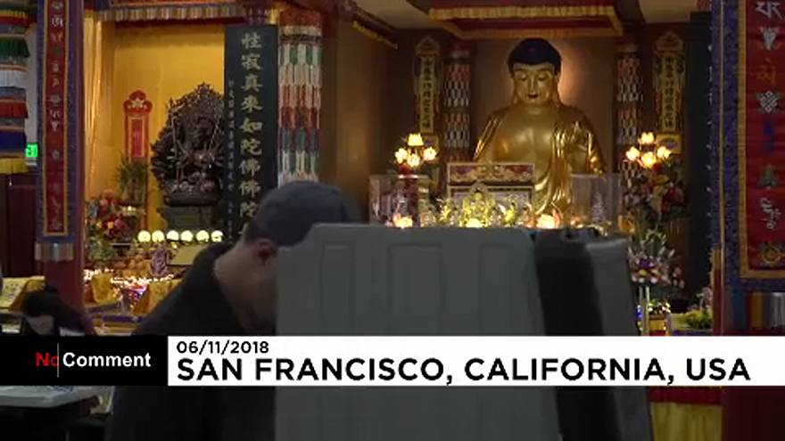 Watch: Voters cast their ballot in an unusual polling place in San Francisco
