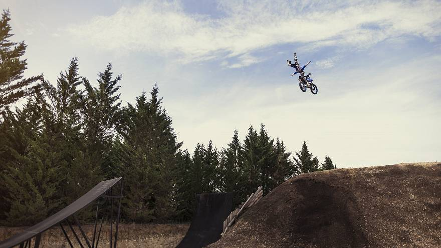 Watch: When freestyle motocross meets drone filming