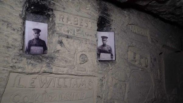 En los túneles de la I Guerra Mundial