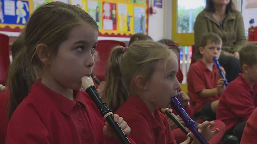 Watch: Children from poorer families less likely to play instruments — study