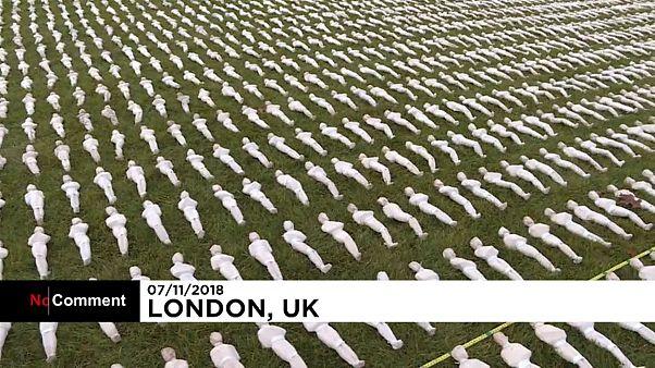 """""""Les linceuls de la Somme"""", une émouvante installation contre l'oubli"""