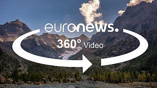 Report a 360 gradi: il ritiro record del ghiacciaio nelle Alpi italiane