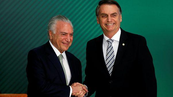 """Temer e Bolsonaro prometem transição """"fluida"""""""