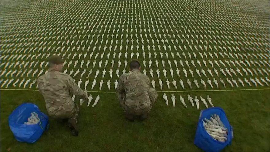 Weltskriegsgedenken: 72.396 Miniatursoldaten für die Gefallenen
