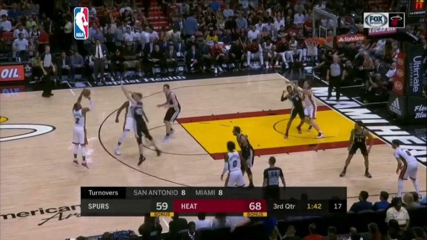 NBA: Miami batte San Antonio 95-88