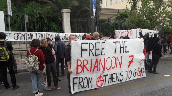 Διαμαρτυρία αντιεξουσιαστών στο κέντρο της Αθήνας