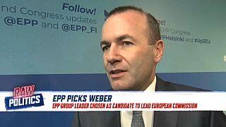Centre-right party chooses Weber for top EU job   Raw Politics