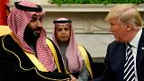 دونالد ترامپ، رئیس جمهوری امریکا و محمد بن سلمان، ولیعهد عربستان