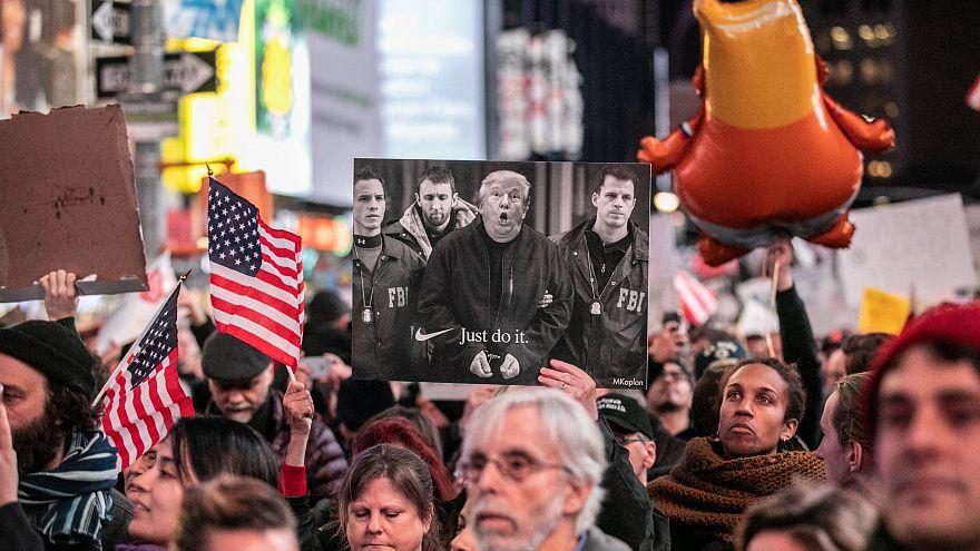 Manifestação em Nova Iorque contra Trump