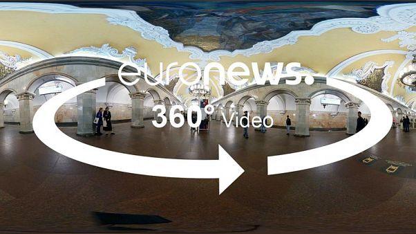 Το μετρό της Μόσχας είναι έργο τέχνης! -  360° βίντεο