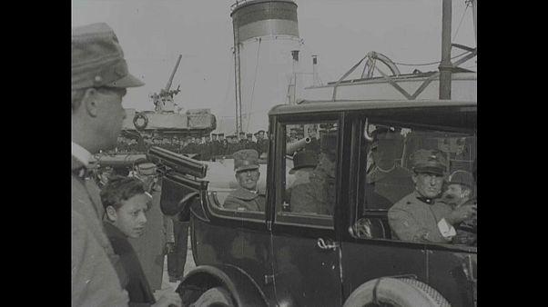 فيديو ينشر للمرة الأولى لاحتفال ملك إيطاليا بالفوز بالحرب العالمية الأولى