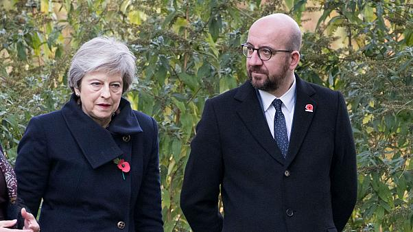 Convoy carrying British, Belgian prime ministers hit by car: reports