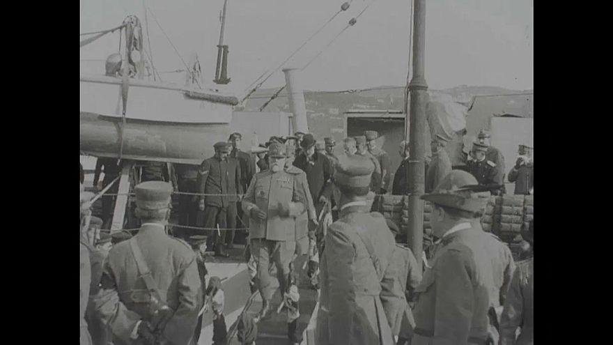 Video | I. Dünya Savaşı'nda cephe değiştirerek savaşı kazanan İtalya kralının özel görüntüleri