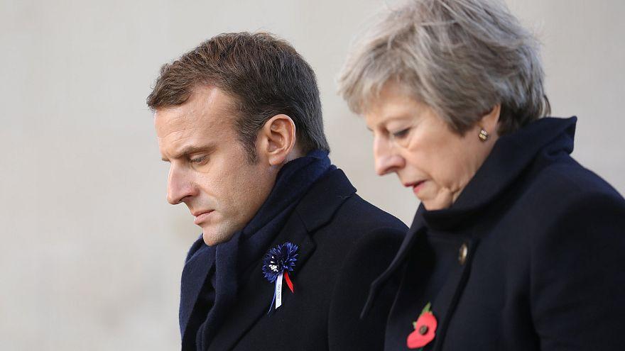 Emmanuel Macron und Theresa May