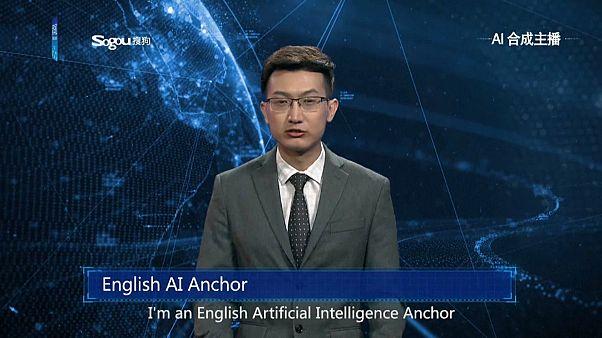 الصين: أول مذيع آلي يقدم نشرة الأخبار بواسطة تقنية الذكاء الاصطناعي