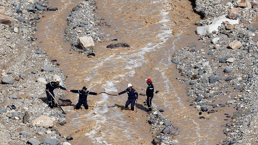 Las inundaciones dejan una decena de muertos en Jordania