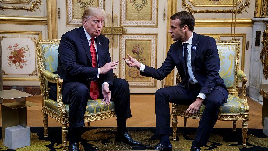 هدنة في باريس بين ماكرون وترامب تخفف التوتر بعدة دعوة الإليزيه لتشكيل جيش أوروبي
