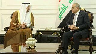 خالد فالح، وزیر نفت عربستان سعودی و ثامر غضبان، وزیر نفت عراق در بغداد