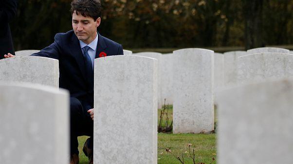 Trudeau homenageia canadianos mortos na Primeira Grande Guerra