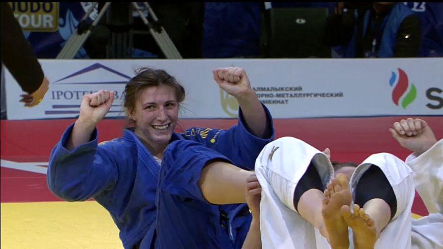 Taşkent Judo Grand Prix'si heyecanlı müsabakalara sahne oluyor