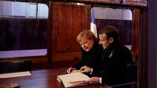 Macron y Merkel celebran la amistad francoalemana