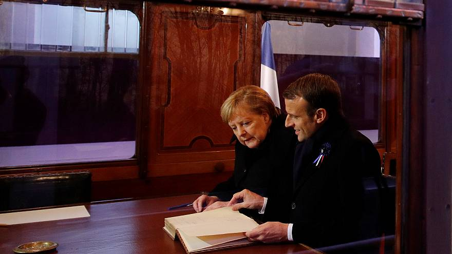 Macron & Merkel hold symbolic meeting ahead of WWI centenary