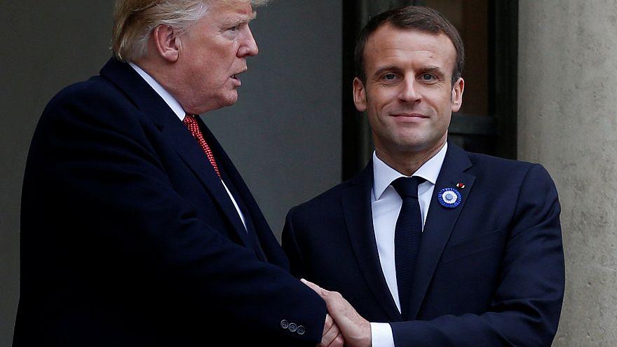 Virales Foto: Wer hat den härteren Handschlag, Trump oder Macron?