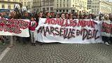 Homenaje a las víctimas del colapso de dos edificios en Marsella