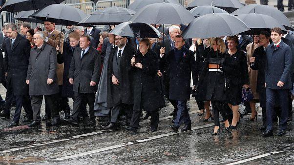 """Macron: """"Debemos estar unidos en el combate por la paz"""""""