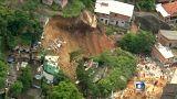 Brezilya'da kayan toprak 10 can aldı, 10 binayı yuttu