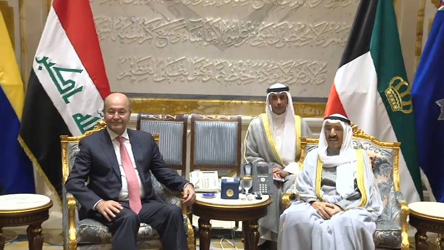 برهم صالح من الكويت: لا نريد للعراق أن يحمل وزر العقوبات على إيران